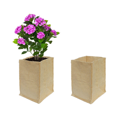 Best Garden Grow Bags in India - Jute Grow Bags (20*20*35 cms) For Eco Friendly Gardening - Set of 2