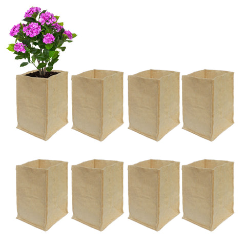 Best Garden Grow Bags in India - Jute GrowBags(20*20*35) For Eco Friendly Gardening-Set of 8