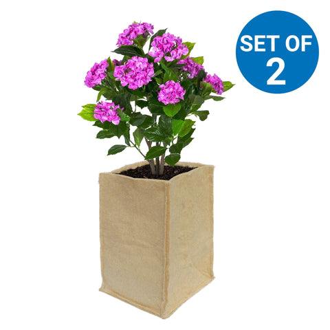 BEST GARDENING JUTE GROW BAGS - Jute Grow Bags (20*20*35 cms) For Eco Friendly Gardening - Set of 2
