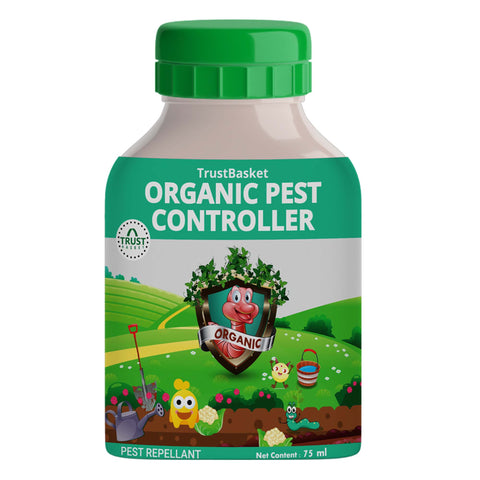 TrustBasket Concentrated All Purpose Organic Pest Controller 75 ml - Can be diluted into 15 Ltrs of Water