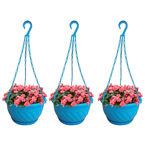 Hanging baskets, Hanging Pots & Planters in India - Colourful Plastic Hanging Basket/Pots/Planters with Bottom Saucer