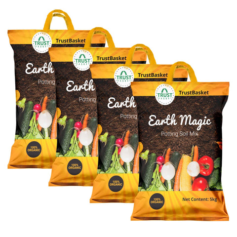 All online products - TrustBasket Enriched Organic Earth Magic Potting Soil Mix with Required Fertilizers for Plants