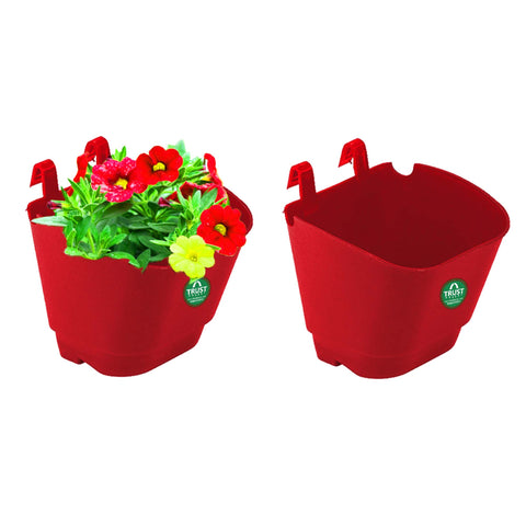 Plastic garden Pots - VERTICAL GARDENING POUCHES(Small) - Red