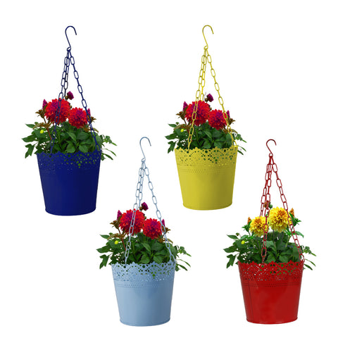 Set of 4 Lace Hanging Basket