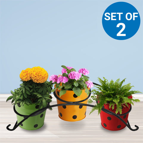 Garden Accessories Online - Retro Planter Stand (Set of 2)