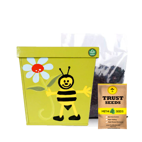 Minimum 20% Off - Kids Gardening Grow Kit (Methi Hybrid Seed)
