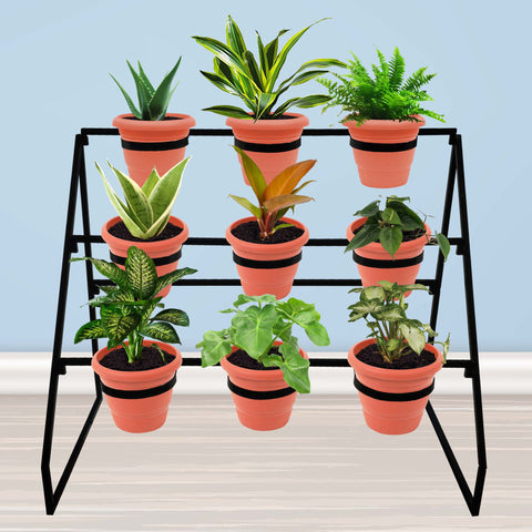 Planter Stand for Flower Pots - Willow Planter Stand-Metal Planter Stand,Pot Stand and Flower Pot Holder