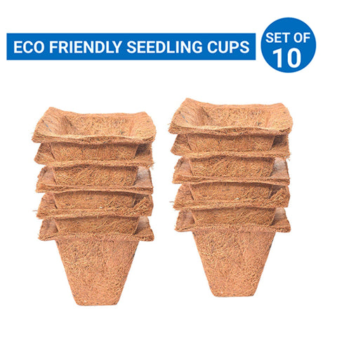 Coir Seedling Cups - 4 inches (Set of 10)