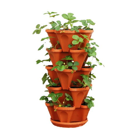 Stack planter-Brown