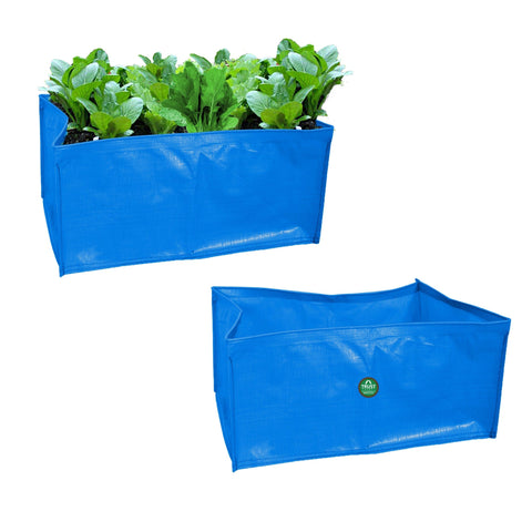 Best Garden Grow Bags in India - Terrace Gardening Rectangular HDPE Grow Bags for Vegetable Plants