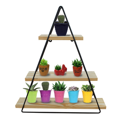 Planter Stand for Flower Pots - TrustBasket Triangle Wooden Flower Pot Stand for Plants