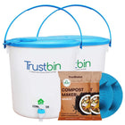 TrustBin - Indoor composter kit for a family of 2 members (Set of two 14 ltrs bins)