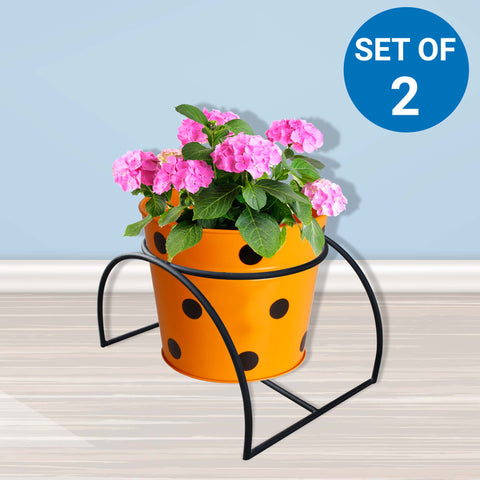 Planter Stand for Flower Pots - Tunnel Planter Stand - Set of 2