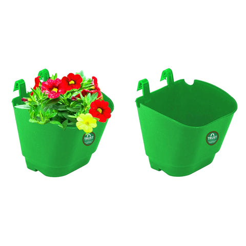 DECORATIVE/CONTEMPORARY PLANT POTS - VERTICAL GARDENING POUCHES(Small) - Green