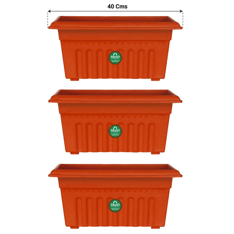 All containers - UV Treated Rectangular Plastic Planters (16 Inches)