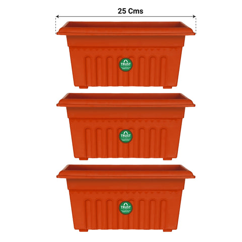 All containers - UV Treated Rectangular Plastic Planter (10 inches)