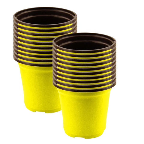 Plastic garden Pots - Nursery Plastic Pot 5 inch (Set of 20 Pots)