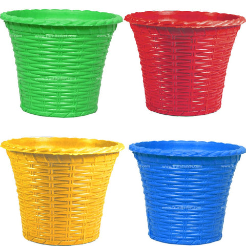 Set of 4  Plastic Planter - Trust Basket
