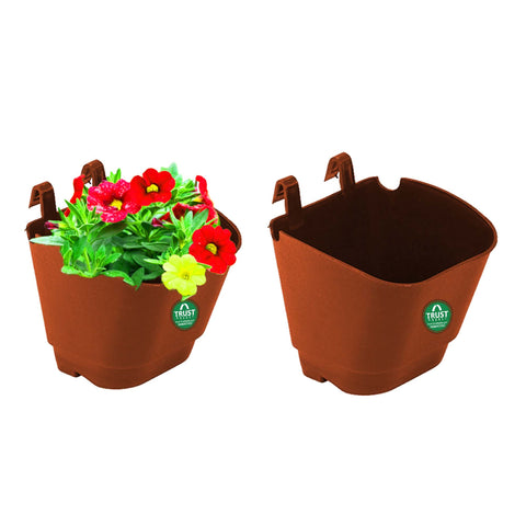 Plastic garden Pots - VERTICAL GARDENING POUCHES(Small) - Brown