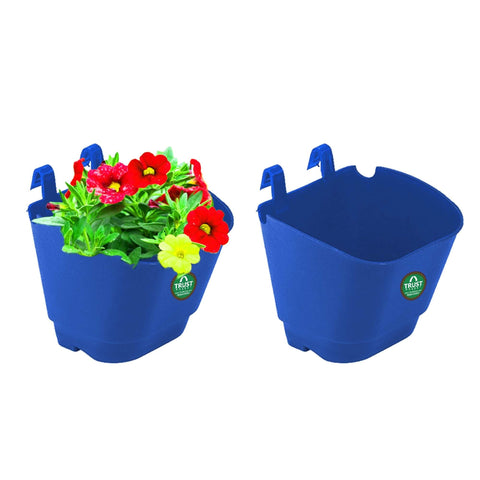 DECORATIVE/CONTEMPORARY PLANT POTS - VERTICAL GARDENING POUCHES(Small) - Blue