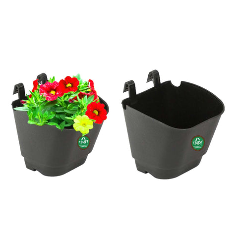 Best Indoor Plant Pots Online - VERTICAL GARDENING POUCHES(Small) - Black