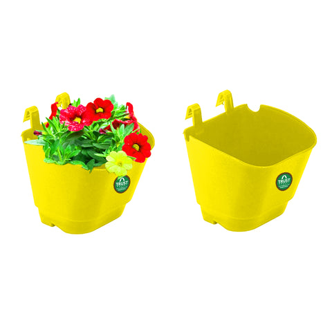 SMALL POTS AND PLANTERS ONLINE - VERTICAL GARDENING POUCHES(Small) - Yellow
