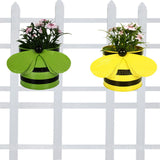 Set of 2 - Bee planters Yellow and Green - Trust Basket  - 1