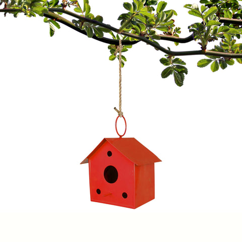 BIRD CAGE/HOUSE - Bird House Red