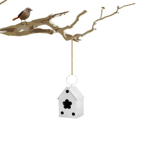 Bird House White