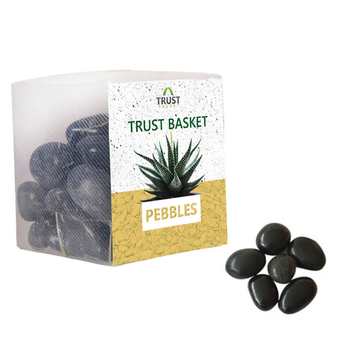 TrustBasket Black Pebbles (1Kg)