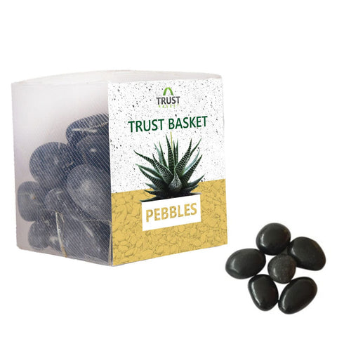 Coloured Pebbles Online - TrustBasket Black Pebbles (1Kg)