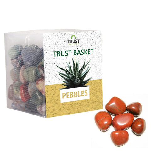 Coloured Pebbles Online - TrustBasket Jasper Pebbles (1Kg)