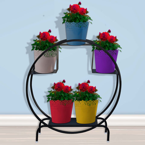 Buy Best Plant Stands Online - Iron Hoop Round Pot Stand
