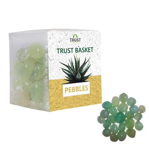 Coloured Pebbles Online - TrustBasket Onyx green Pebbles (1 Kg)