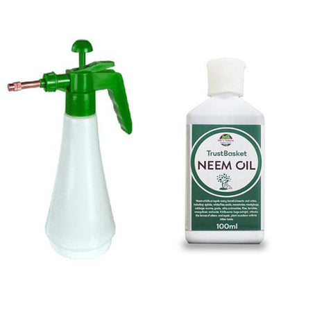 Set of Neem Oil and  Pressure Sprayer - Trust Basket  - 1