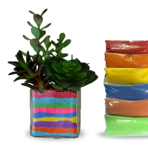 Garden Equipment & Accessories Online - Colorful Sand for Terrarium (Pack of 6, Each 200 gm)
