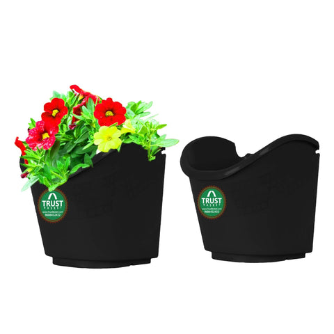 DECORATIVE/CONTEMPORARY PLANT POTS - Vertical Gardening Pouches (Black) - Extra Large