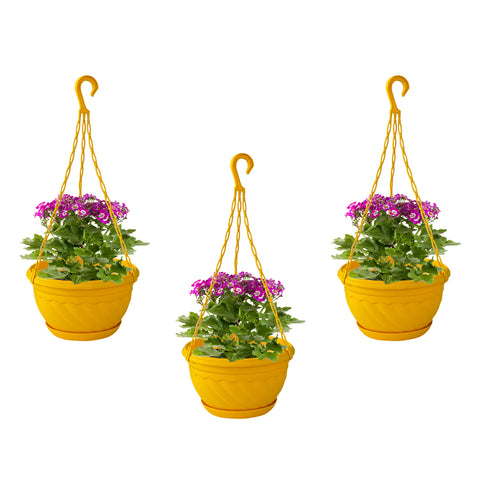 featured_mobile_products - Colorful Plastic Hanging Basket with Bottom Saucer