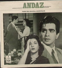 Andaz - Dilip / Raj Kapoor Blockbuster film - First Press - Indian Vinyl LP
