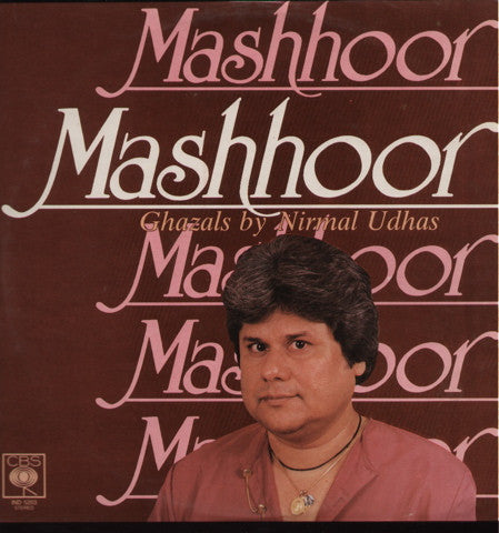 Nirmal Udhas - Mashhoor - Brand new Bollywood Vinyl LP