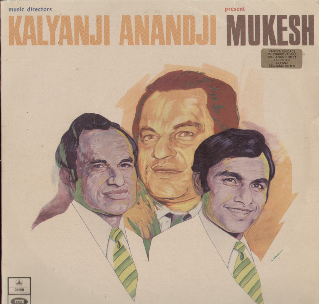 Kalyanji Anandji Present Mukesh Indian Vinyl LP
