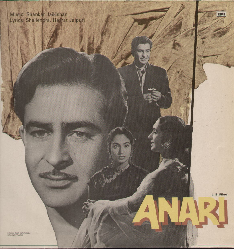 Anari - Raj Kapoor Hit - Hindi Indian Vinyl LP