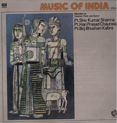 Music of India - Melodies on Santoor, Vol 1 Bollywood Vinyl LP