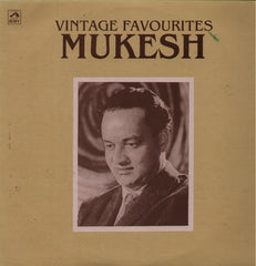 Mukesh - Vintage Favourites Bollywood Vinyl LP