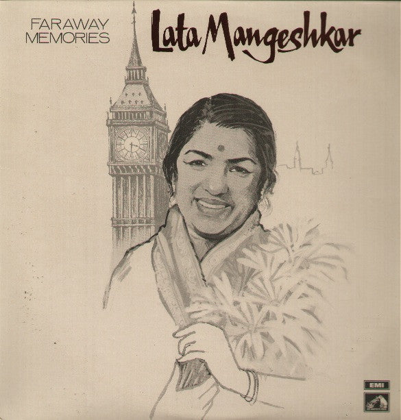 Lata Mangeshkar - Faraway Melodies Indian Vinyl LP