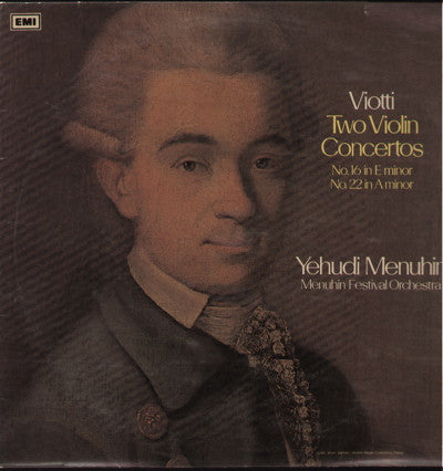 Yehudi Menuhin - Viotti - Two Violin Concertos - Indian Vinyl LP