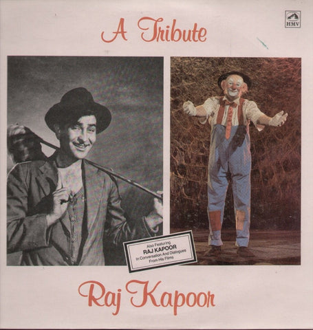 A Tribute Raj Kapoor - Hindi Compilations Bollywood Vinyl LP