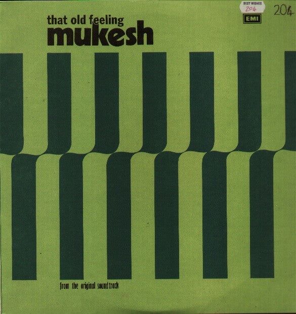 Mukesh - That Old Feeling Bollywood Vinyl LP