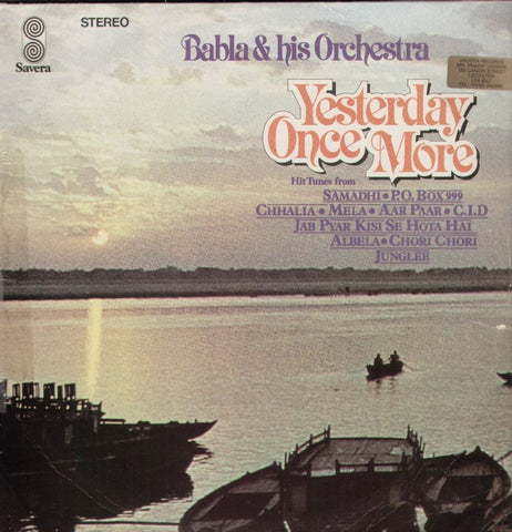 Babla and his Orchestra - Yesterday once more Indian Vinyl LP
