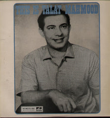 Talat Mahmood - Indian Vinyl LP